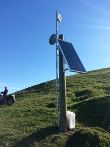 Typical Gisborne Net solar repeater site