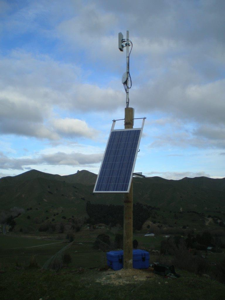 Wharekopae Road Solar Repeater
